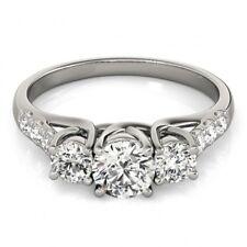1.33 CTW Certified VS/SI Diamond 3 Stone Ring 18K White Gold - REF-2... Lot 8081