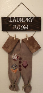 Primitive Laundry Room Decor Wall Hanging Sign