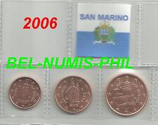 SAN MARINO 2006 -  1 - 2 - 5 cent uit de rol/du rouleau - UNC!!!