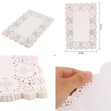 DECORA 200 pcs 10X14.5 Inch White Rectangle Lace Paper Doilies AM011S2P200