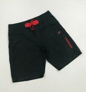 Men's Black & Red Nike Sportswear Board Shorts W34 Swim Shorts Mid-Length B
