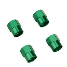 Lot de 4 bouchons de valve en aluminium v1 - Couleur : vert - Auto, Moto, Vélo