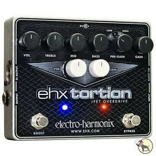 Electro-Harmonix EHX Tortion JFET Overdrive Guitar Effects Pedal Preamp PreGain