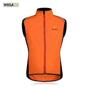 Men's Team Cycling Reflective Vest Wind Coat Sleeveless Sports Bike Clothing