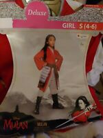 Mulan Hero Red Dress Deluxe Costume Adult Small 4-6