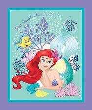Disney The Little Mermaid Ariel Panel 100% cotton fabric panel