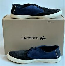 Lacoste men's Blue Sevrin 116 Suede sneaker Shoes Casual Trainer Canvas - UK 9