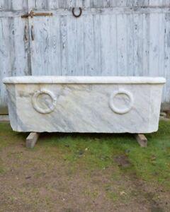 Antique 19th Century Calacatta Marble Bath Bathtub