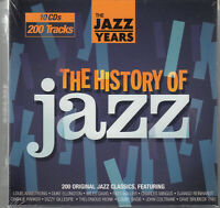 HISTORY OF JAZZ 10-CD set SEALED/NEW Miles Davis John Coltrane Django Reinhardt