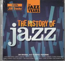 HISTORY OF JAZZ 10-CD set SEALED/NEW Miles Davis John Coltrane Django Reinhardt