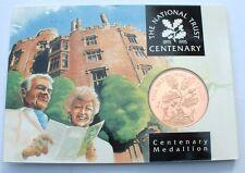 Superb BU 1995 Britain National Trust Centenary Medal - Royal Mint - NO RESERVE