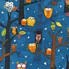 Robert Kaufman Amy Schimler Forest Fun Owls SPICE OOP Fabric Yard