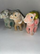 Vtg MY LITTLE PONY So Soft LOT G1 Wind Whistler Best Wishes Posey Fuzzy Flocked