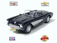 Maisto Power Racer Hot 1957 Chevrolet Corvette Convertible Diecast 1:39