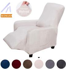 Acomopack Premium Velvet Recliner Cover, Velvet Stretch Recliner Chair Cover Cou