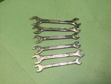 Vintage spanners X6 ELORA 156 A/F sizes 7/16-7/32 ,Classic German car tools