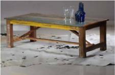 Mesa de Centro Mesa baja de café vintage industrial de madera maciza de mango