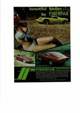 VINTAGE 1968 AVENGER GT-12 FIBERFAB KIT VOLKSWAGEN CAR BIKINI CLAD GIRL AD PRINT