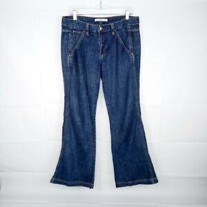 Tommy Hilfiger Flare Jeans Women Size 8 Blue 100% Cotton