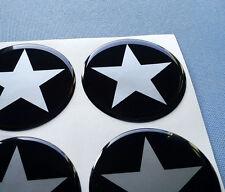 (stern 5/60) 4x Embleme für Nabenkappen Felgendeckel 60mm Silikon Aufkleber