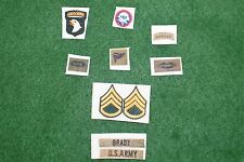 1/6 US 101st Airborne Vietnam patch set