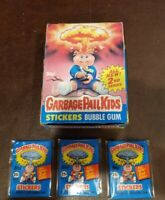 1985 TOPPS GARBAGE PAIL KIDS 2nd SERIES 2 EMPTY WAX BOX Plus 3 Wax Pack