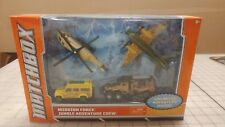 MATCHBOX MISSION FORCE JUNGLE ADVENTURE CREW LAND ROVER DEFENDER YELLOW