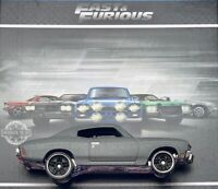 HOT WHEELS 2019 FAST AND FURIOUS '70 CHEVELLE SS LOOSE GREY