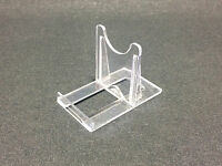 DISPLAY STANDS Adjustable Clear Twist Plastic (3 Sizes) Plates Cards Slices Dvds