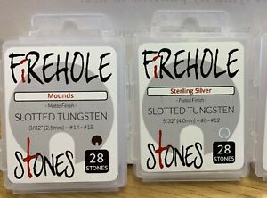 Firehole Stones SLOTTED Tungsten Beads Choose Size /Color