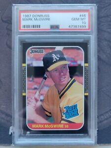 1987 Donruss Mark McGwire Rookie Baseball Card #46 PSA 10 Gem Mint FREE SHIPPING