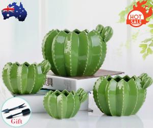 Flower Succulent Plant Pots Ceramic Cactus Pottery Planter Handmade Office Decor