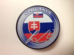 Erik Cernak Signed Autographed Slovakia Hockey Puck Go Lightning a