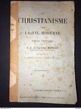 Le Christianisme Dans La Vie Moderne Cardinal Mercier 1918 Christianity