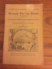 Roosevelt Wildlife Bulletin, Howard Dean, Adirondacks, August 1922, Vol 22, No 7