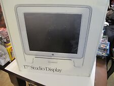 "APPLE - 17"" STUDIO DISPLAY MONITOR - Orig Box - LCD FLAT PANEL - MAC collectable"