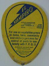 NOS ANTIQUE Vtg Patent 1919 EL VAMPIRO SWAT THAT FLY ADVERTISING PEORIA ILLINOIS