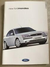 Ford Mondeo Car Brochure - September 2000