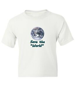 Save The World Kid Girl Boy Youth Unisex Save The Earth Short Sleeve T-Shirt