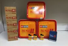 3 x Pall Mall Allround Red Mega Box 230g, 1000 Extra-Hülsen, 3 Feuerzeuge, Etui