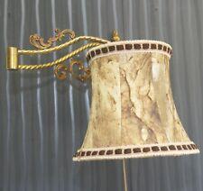 Lampe Murale Pivotant 1-fl.Leuchte Laiton Cuir Abat-Jour Laiton Led Lumière