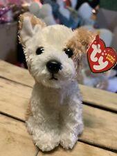 Ty Corky -Tan/White Norfolk Terrier Dog 6� Mwnmts Beanie Baby *Retired* Rare/Htf