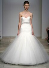 Kenneth Pool Authentic Amsale Embrace Ivory Tulle Wedding Dress Sz 0 00