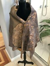 Chico's Double Sided Leather Shawl