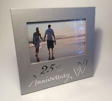 25th Silver Wedding Anniversary Wooden Photo Frame Grift Ideas FL29625