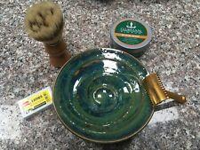 Shaving Lather Bowl Handmade Pottery stoneware handmade USA free gift New glazes
