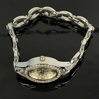 Studio Time Womens Watch Gold & Silver Tone Link Bracelet Crystal Accents