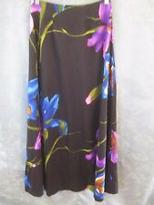 Vintage 70's Tori Richard Long Skirt Size Xs Bold Floral Print Dressy Hostess