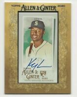 2020 Topps Allen & Ginter KYLE LEWIS Framed Mini Autograph Auto Mariners RC