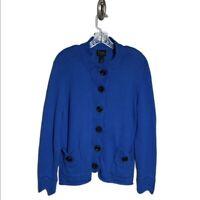 Pure Handknit Blue Oversized Grandpa Cardigan Size L/XL